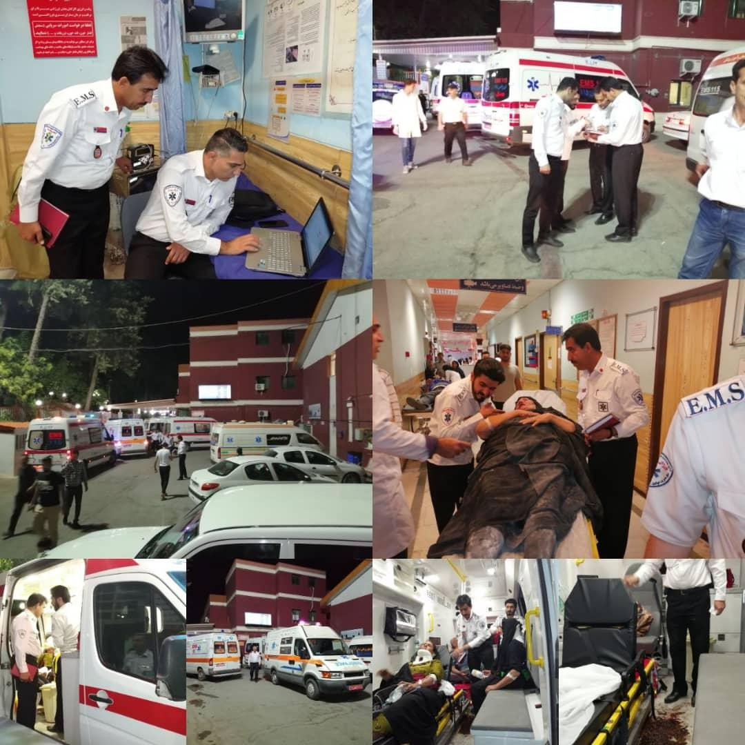 واژگونی اتوبوس زوار عراقی در جاده خرمآباد کوهدشت ۲۲ مجروح برجای گذاشت