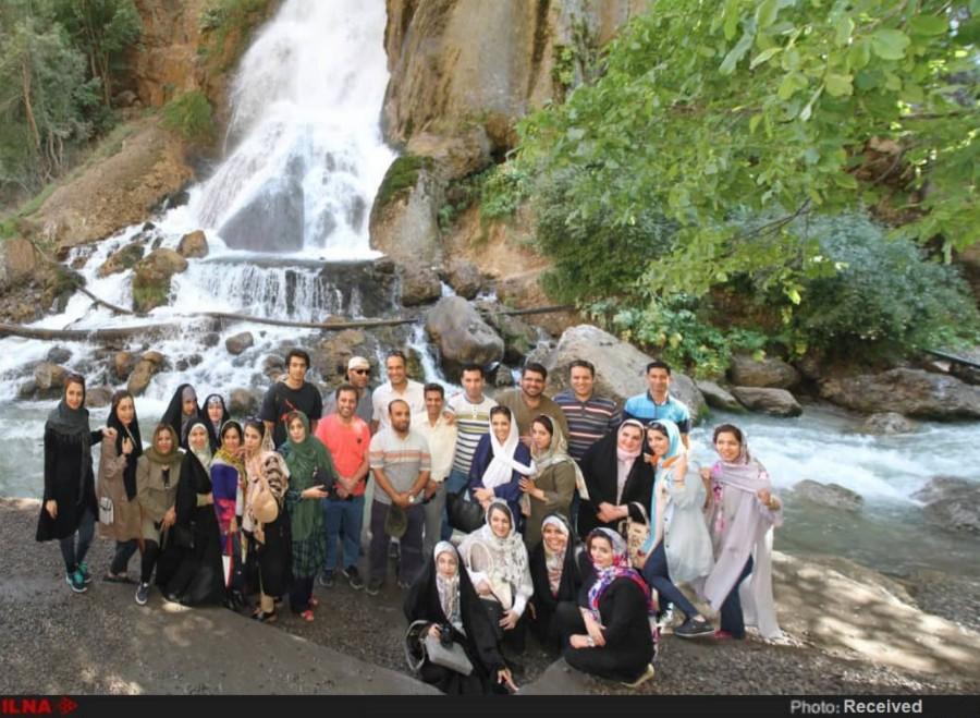 بازدید خبرنگاران خوزستانی از جاذبههای گردشگری لرستان+ تصاویر