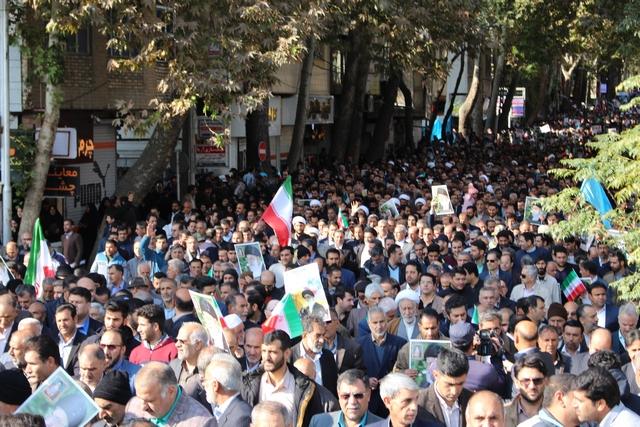 گزارش تصویری: راهپیمایی بزرگ حمایت از اقتدار و امنیت ملی و محکومیت اقدامات ساختارشکنانه