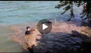 دریاچه کیو توسط آتش نشانان پاکسازی شد