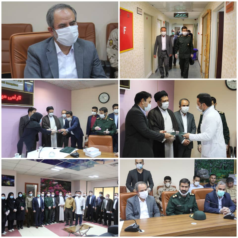 تجلیل رئیس سازمان صمت استان لرستان از مدافعان سلامت بیمارستان شهید رحیمی خرم آباد