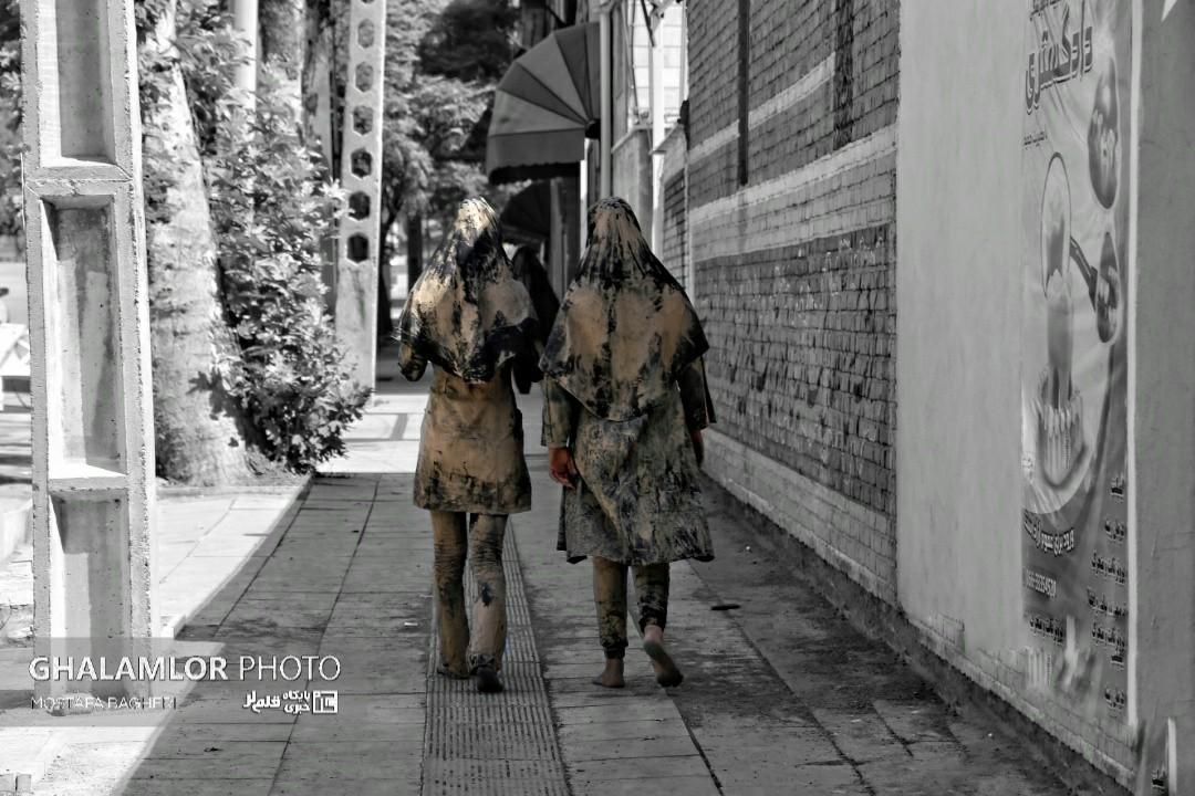 عزاداری مردم خرمآباد در روز عاشورای حسینی / کلیپ