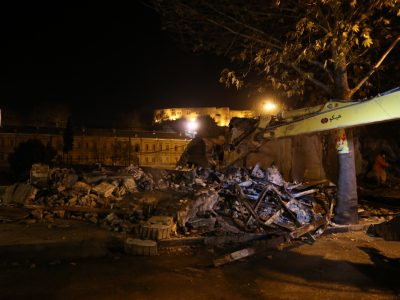 گزارش تصویری / واحدهای تجاری حریم پل گپ خرمآباد تخریب شدند